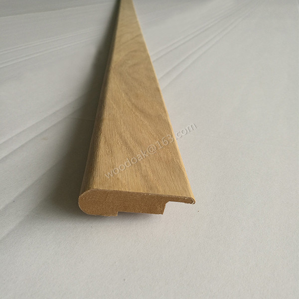 Wood Moulding Unfinished MDF with Oak Veneer Stair Nose Flooring Accessories