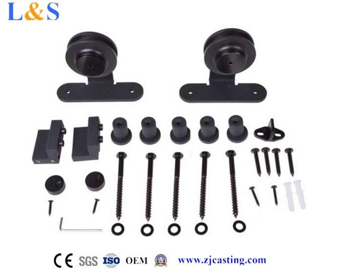 Black Wood Sliding Door Hardware (LS-SDU 020)