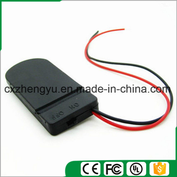 Cr2032 Battery Holder with Red/Black Wire Leads (Color: Black)
