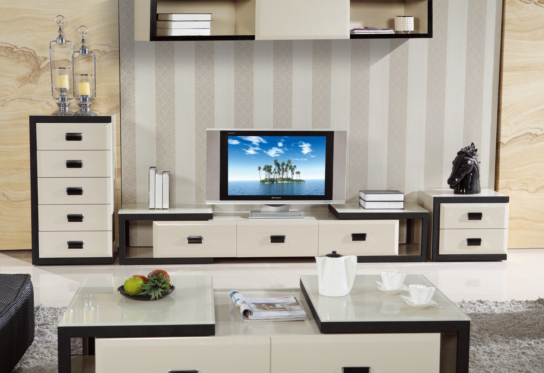 Extension TV Stand High Quality Living Room Furniture (DS 118)