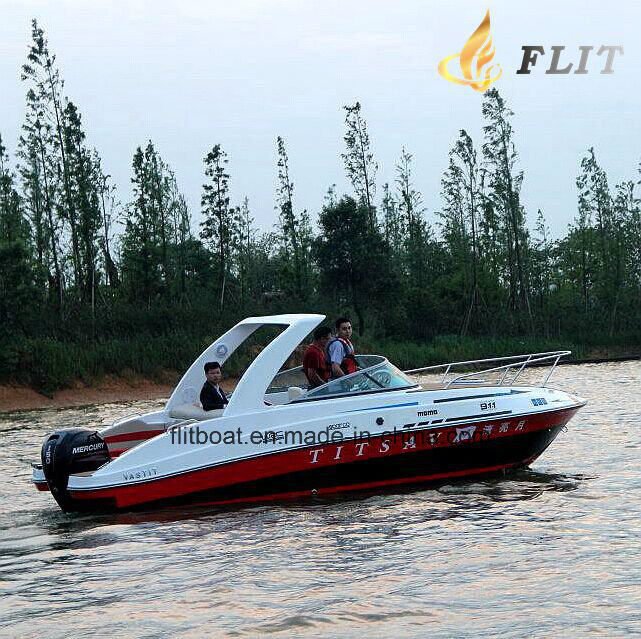 24FT Outboat Style and Fiberglass Half Cabin Luxury Yacht