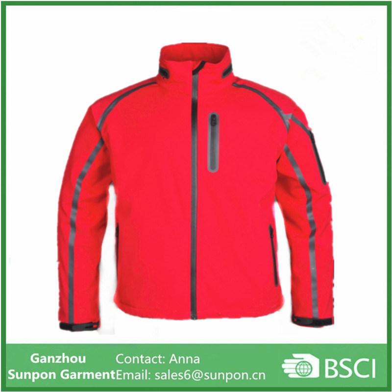 2017 New Style Waterproof Seamless Pockets Men Softshell jacket