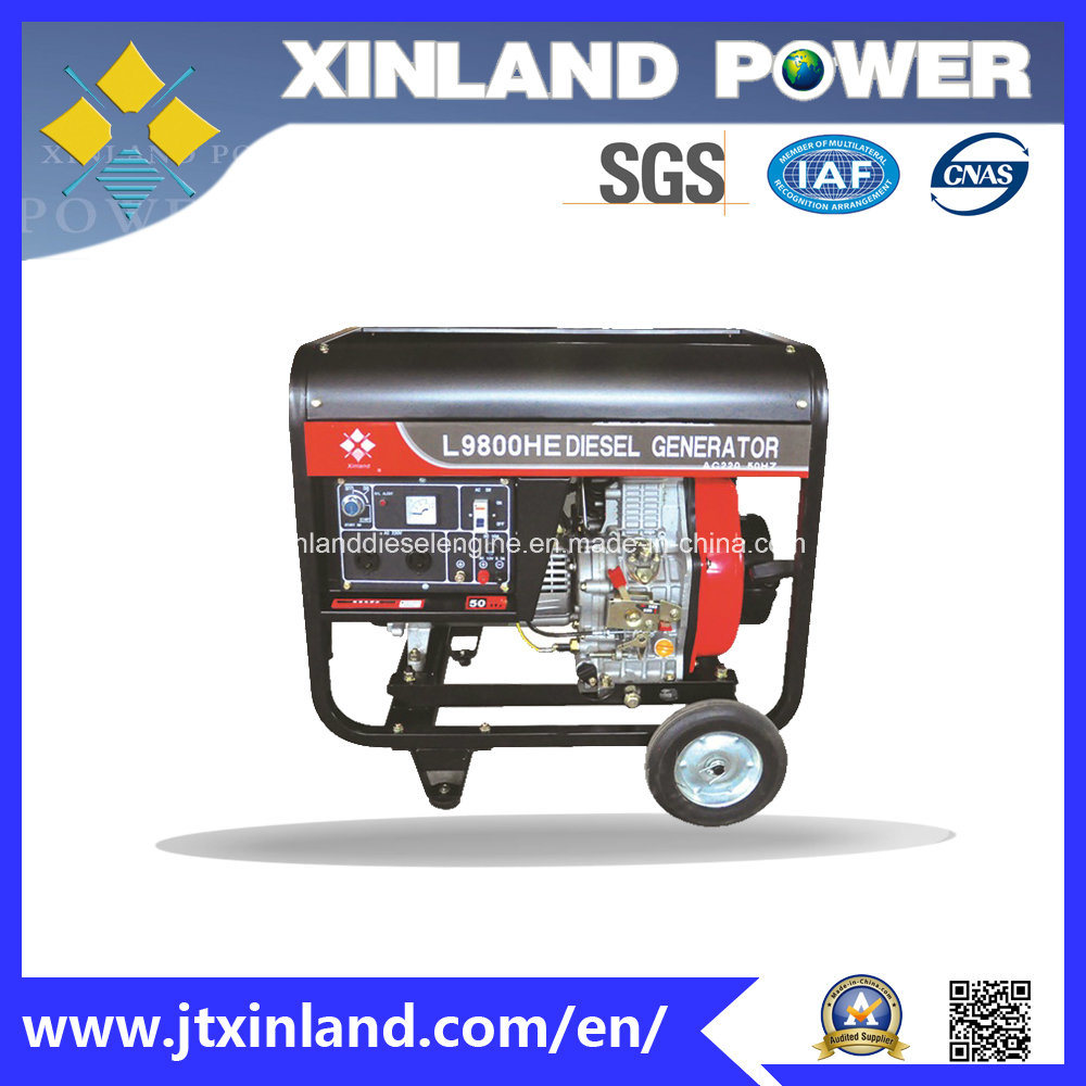 Single or 3phase Diesel Generator L9800h/E 50Hz with ISO 14001