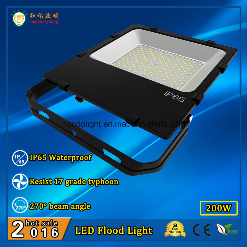 Ce RoHS Approved LED Flood Light Bulb 200W with Philips LEDs and Meanwell Power Supply