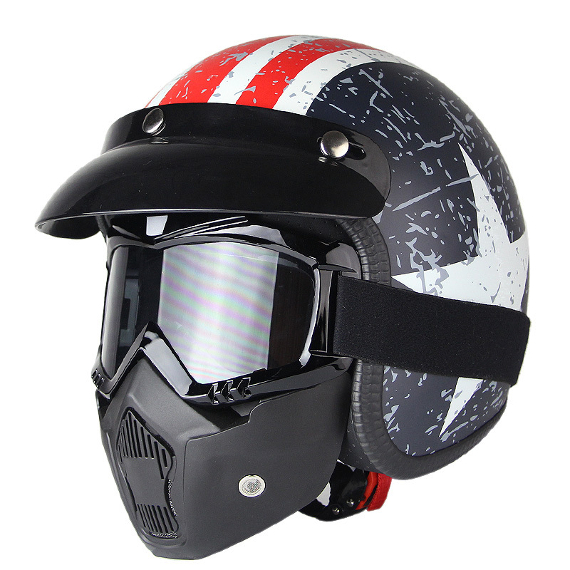 Half Face of Helmet with Mask