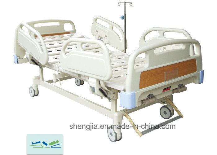 Sjb201mc Luxurious Hospital Bed with Double Revolving Levers