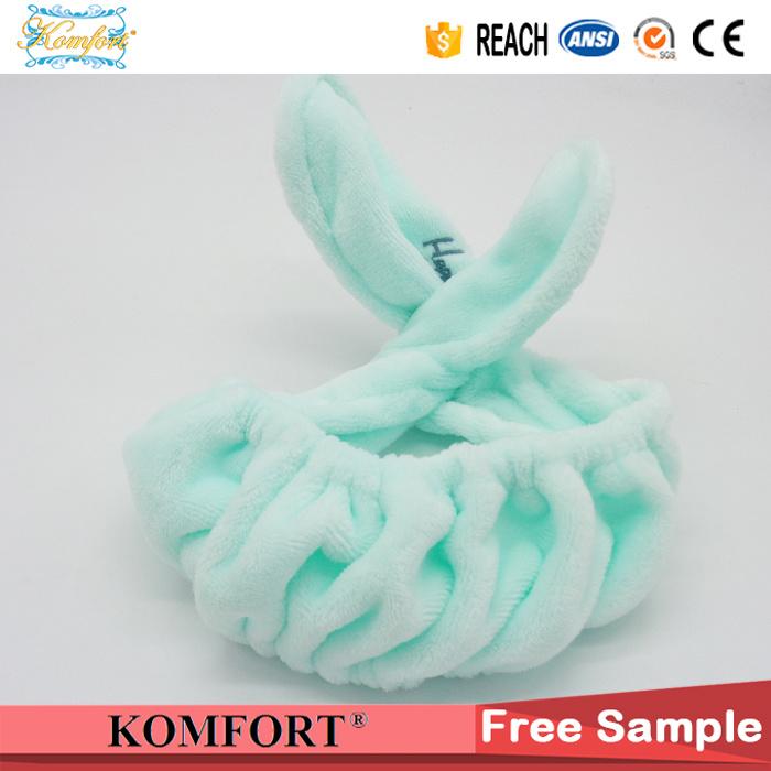 Elastic Soft Fleece Beauty SPA Make up Hair Headband for Bath Salon