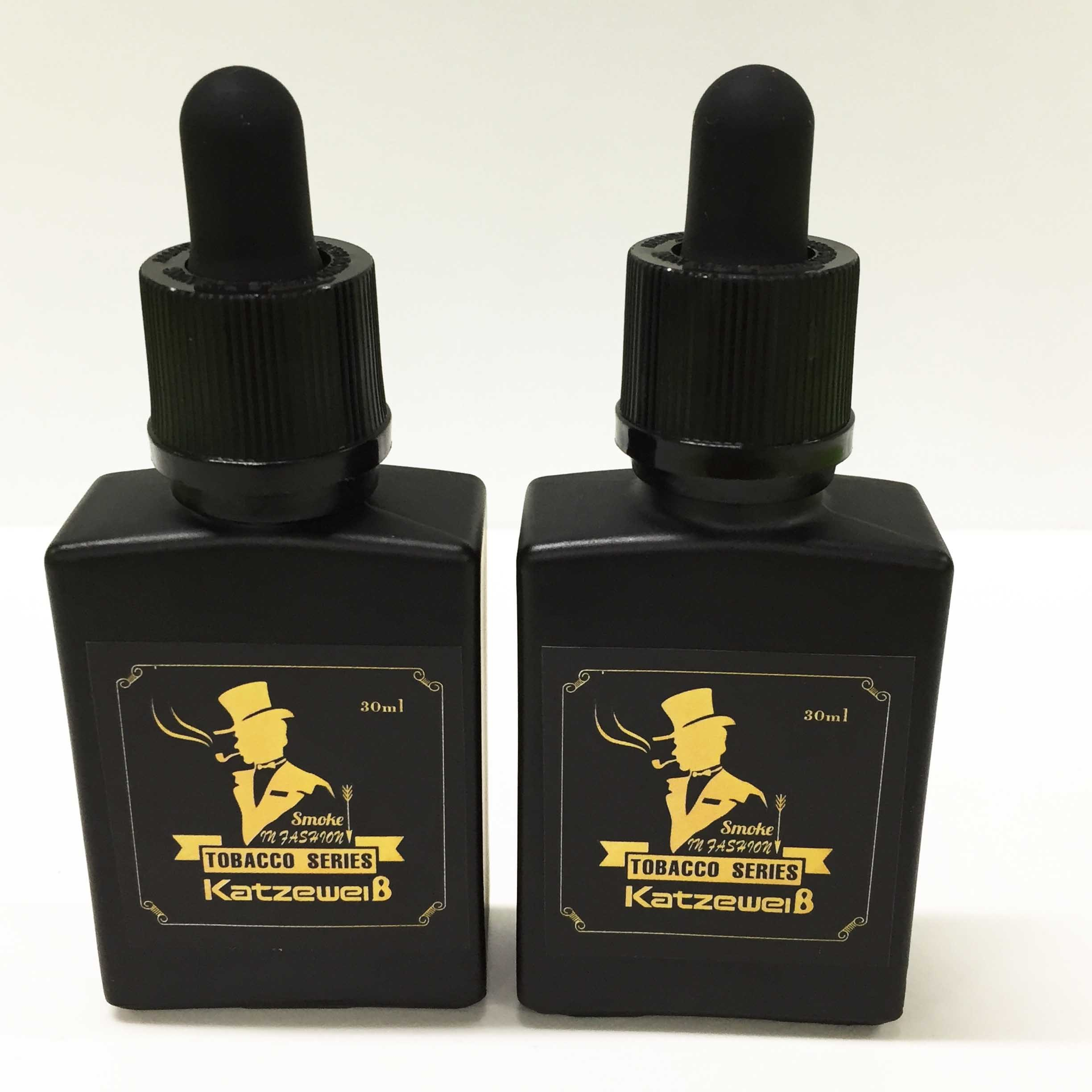 30ml Black Glass Bottle E Liquid with Free OEM Services
