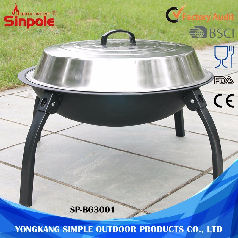 Prefessional Stainless Steel Charcoal BBQ Tool Set with Lid