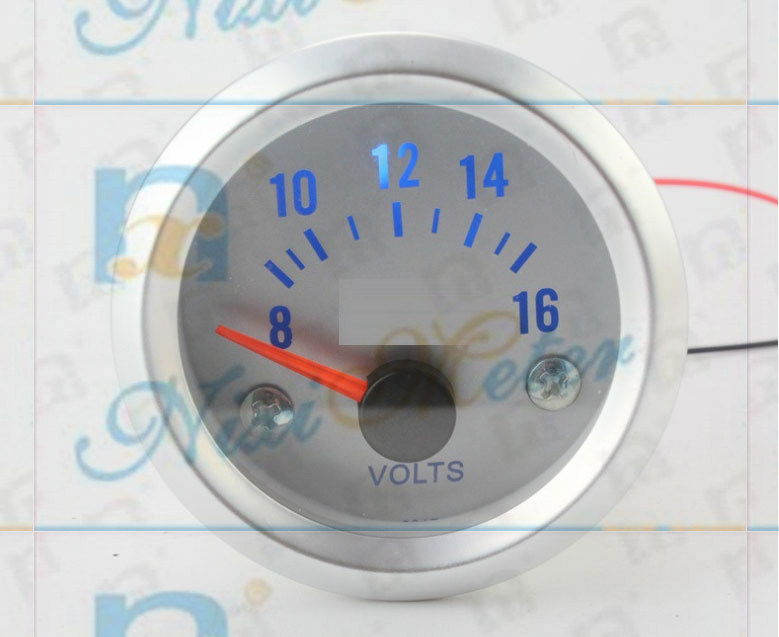 The 8V-16V White Pointer Voltmeter of White Light