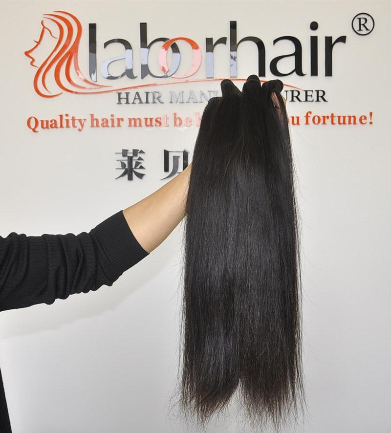 Unprocessed Labor Hair Extension 105g (+/-2g) /Bundle Natural Brazilian Virgin Straight Hair 100% Human Hair Weaves Grade 8A