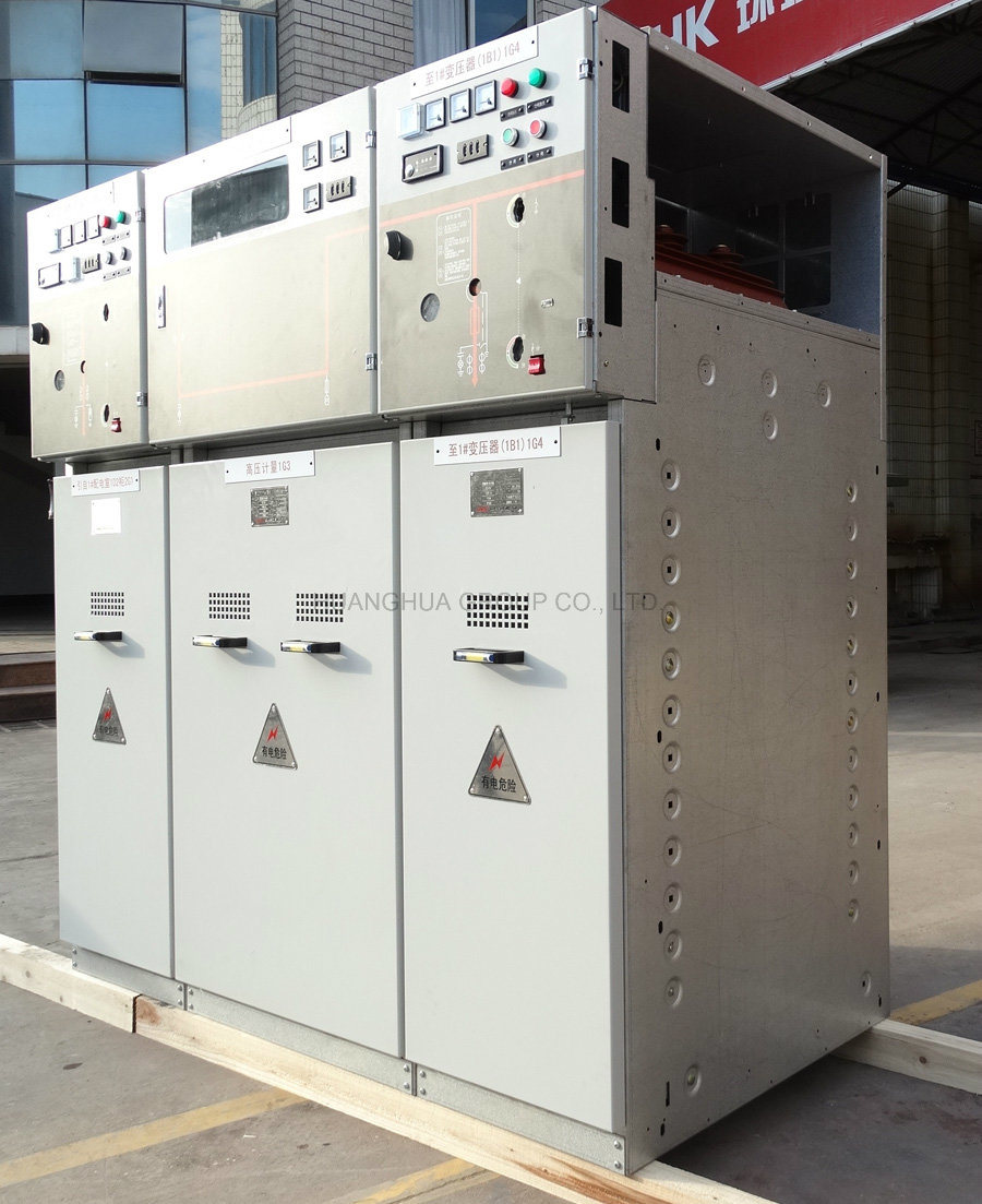Hxgn15 Gas Insulated Metal Sealed Electrical Switchgear Old Type