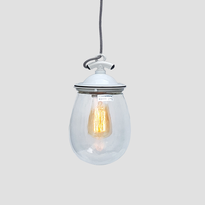 New Vintage Clear Glass Pendant Light Iron Hanging Lamps for Home Decor Restaurant