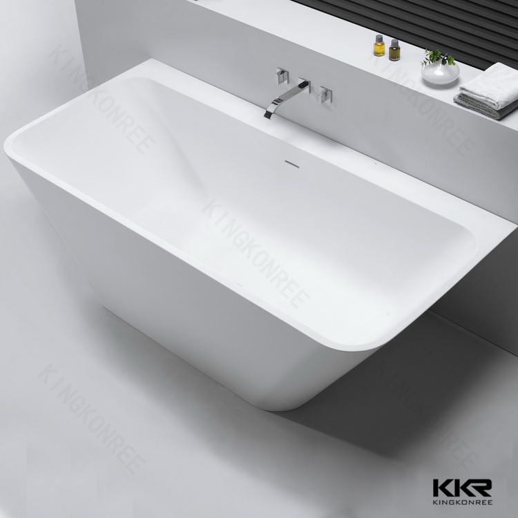 Stone Resin Bathtub Small Size Freestanding Bath Tub