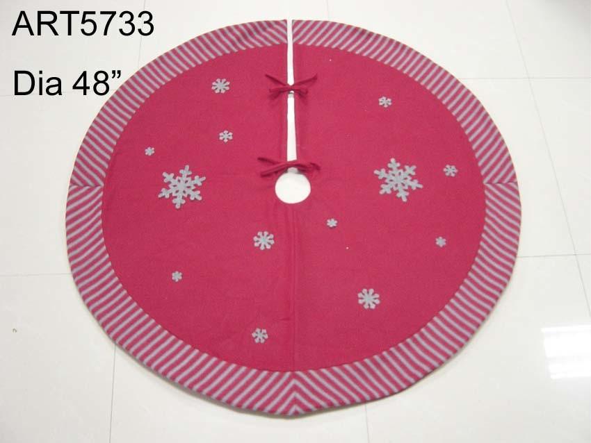 "48"" Dia Snowflake Christmas Decoration Skirt for Tree"