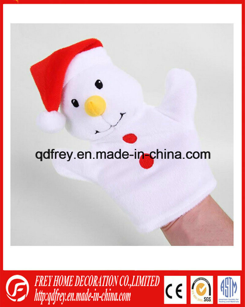 Christmas Holiday Promotion Toy of Snowman Hand Puppet