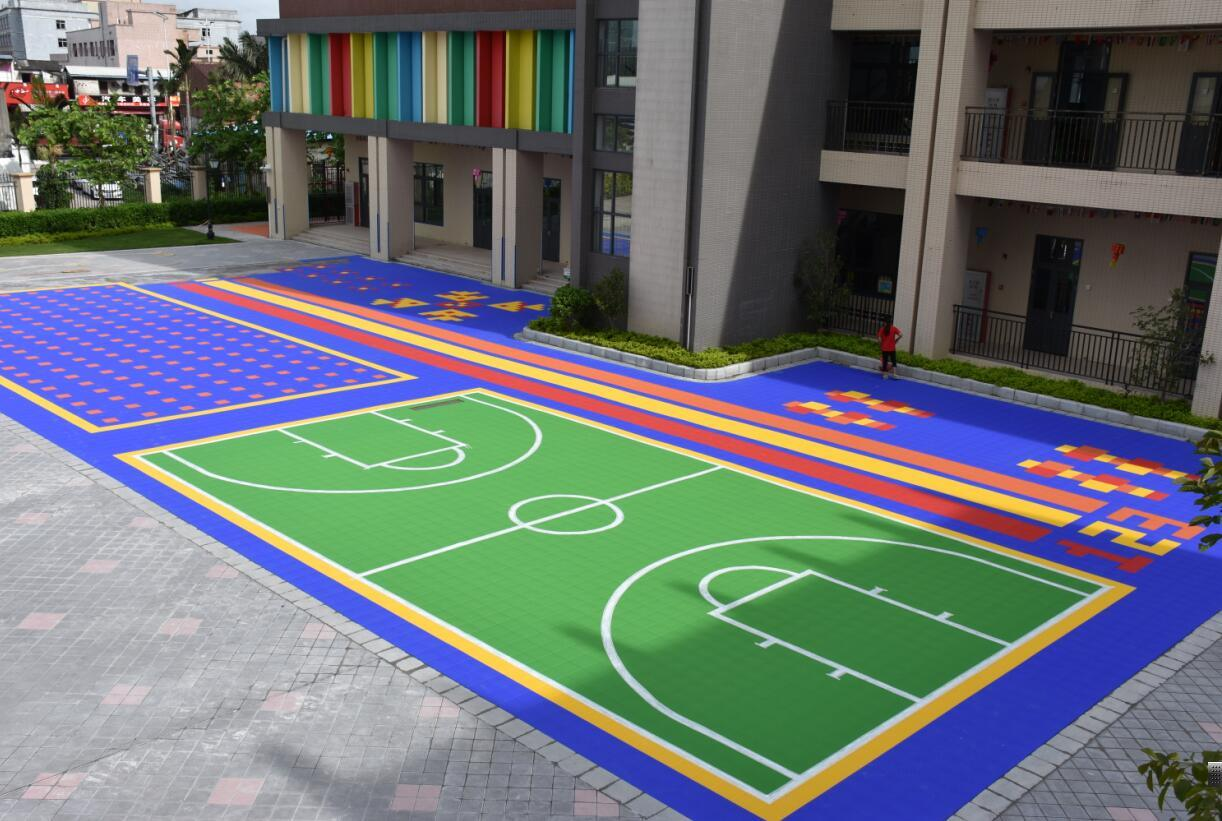 Outdoor Flooring for Playground and Basketball Courts