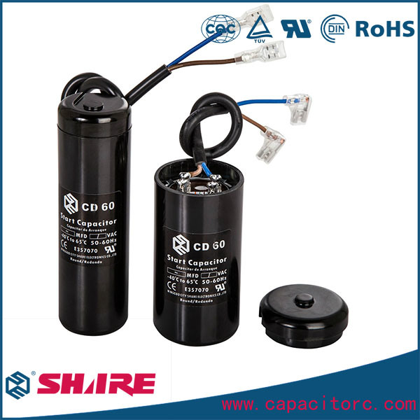 CD60 Motor Start Capacitor for Refrigerator and Air Conditioner Capacitor