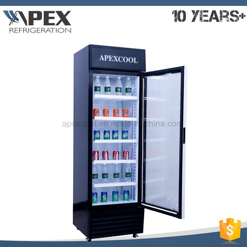 360L Single Door Upright Showcase, Upright Cooler, Glass Door Merchandiser