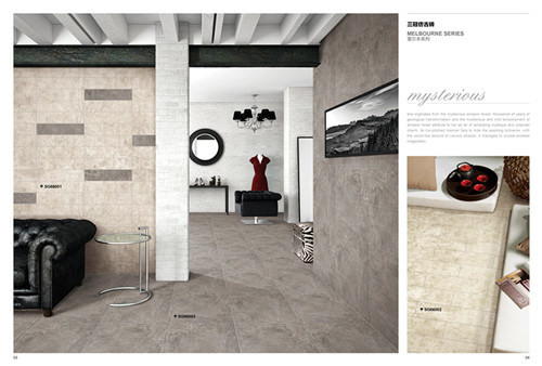 Cement Look Good Hardness Low Water Absorption Porcelain Non Slip Floor Tile Rustic Tile