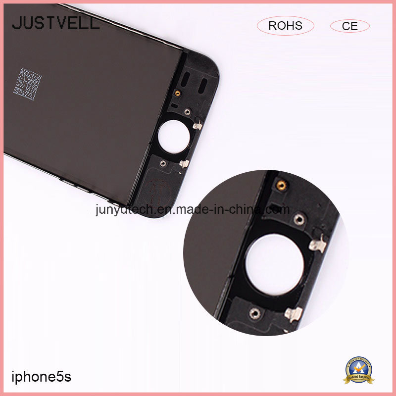 LCD Display for iPhone 5s Mobile Phone Digitizer Assembly Metal Frame