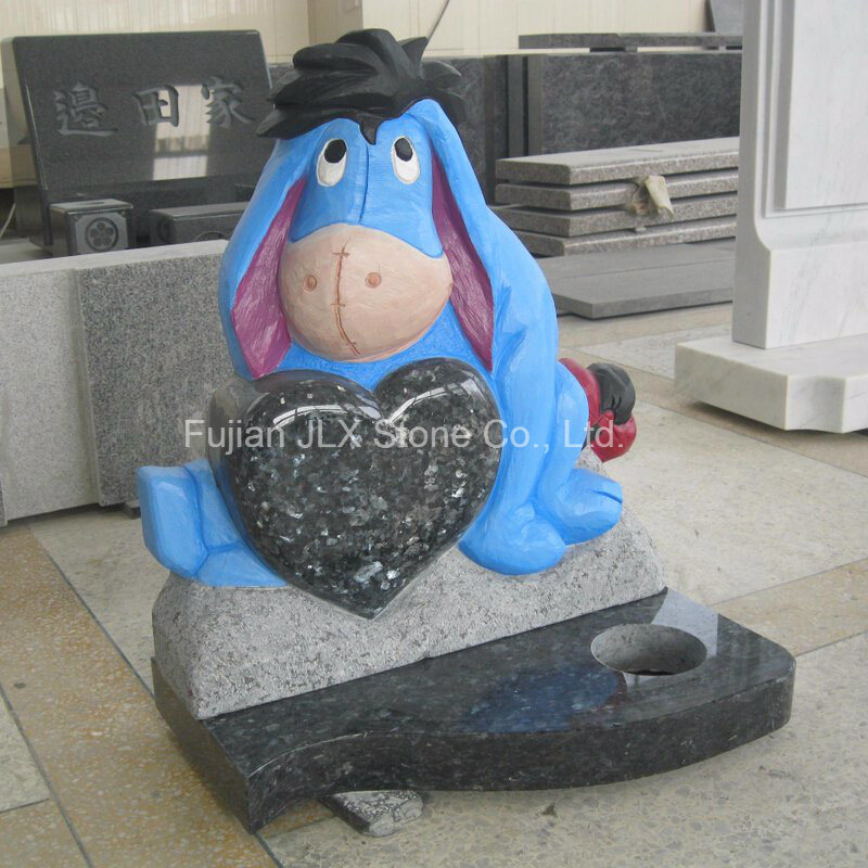 Blue Pearl Granite Eeyore Sculpture Baby Headstones