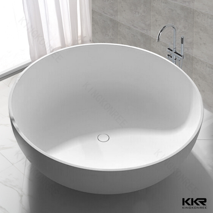 Kkr Hot Sale Quality Solid Surface Resin Bathroom Bathtub