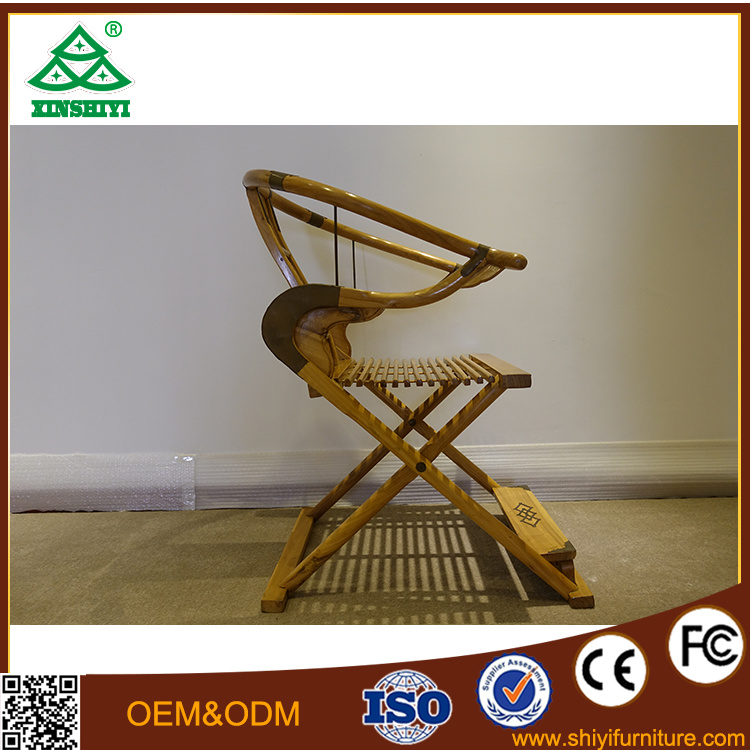 New Chinese Style Annatto Furniture Solid Wood Chair Rosewood Folding Chairs Court Recreational Chair