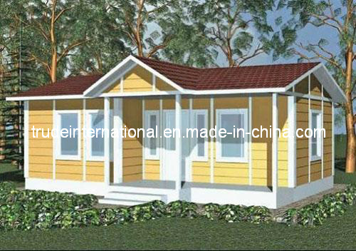 Modular/Prefabricated/Prefab House with PVC Cladding Sheet