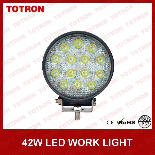 "LED Work Lamps 4"" 42W 9-32V Round Work Lights"