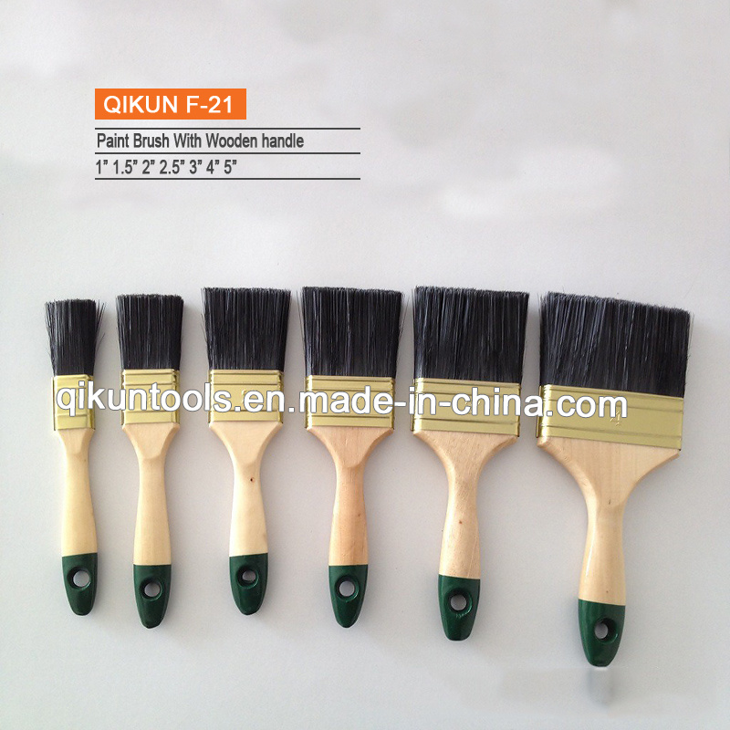 F-19 Wooden Handle Bristle Paint Brush