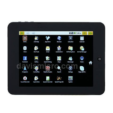 Inch Tablet PC Freescale Imx 515 Cortex A8 Android 2.2 3D Game and