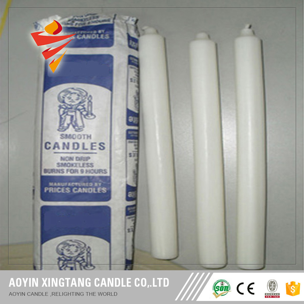 Cheap Wax Candles Household White Candles for Madagascar