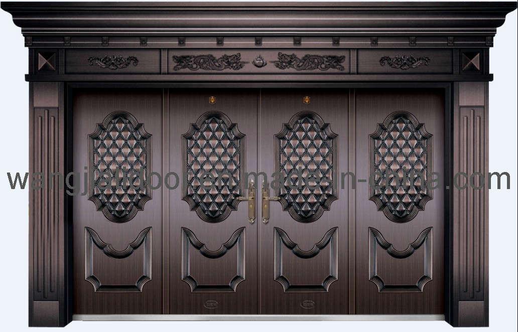 China metal gate door steel security door eh 2205 for Door to gate kontakt