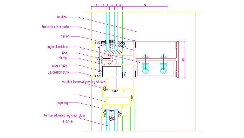 Curtain Wall Framing : Photo curtain wall section images spring window