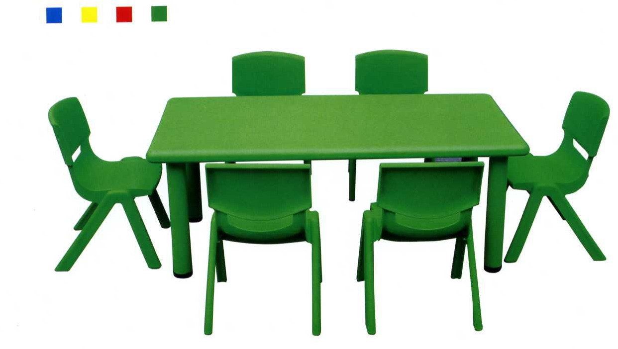 China Plastic Table And Chair, Kindergarten Plastic Chair, Kids School  Furniture, Children Table For Six Peoples   China Plastic, Table