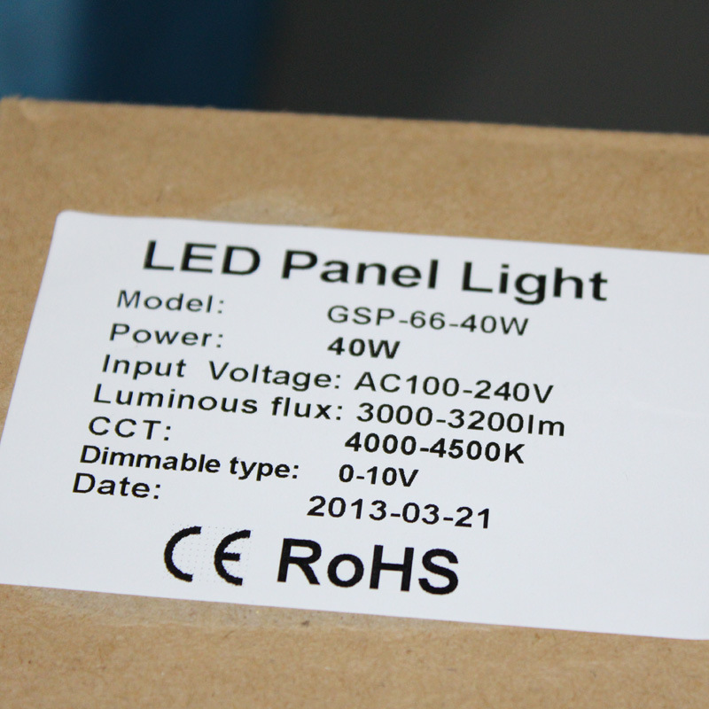 600*600mm 50W LED Panel Light with Ies File Available