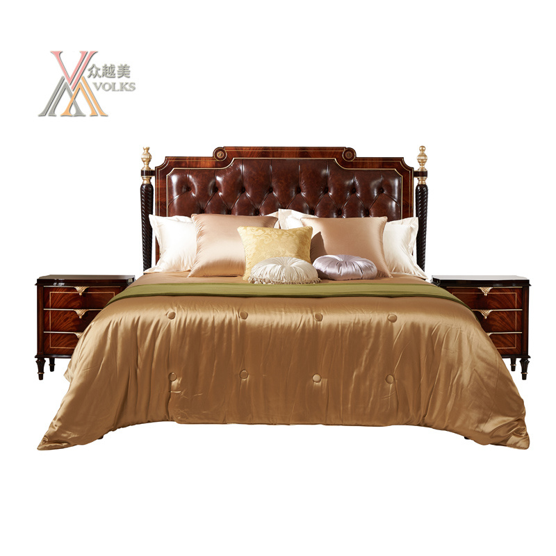 Leather Bedroom Kingsize Queen Size Bed (JME019bed)