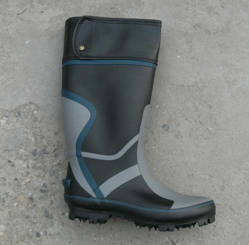 China men fishing rubber boots with nail outsole china for Rubber fishing boots