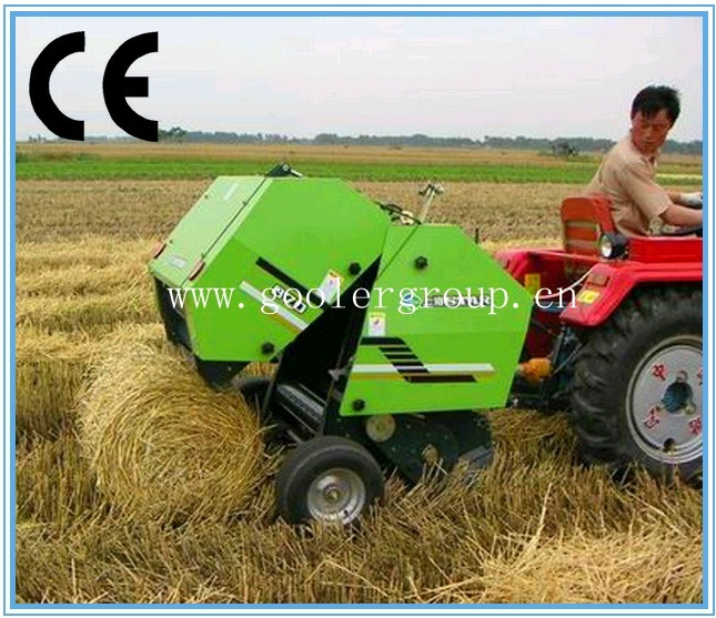 Mini Round Hay Baler Machine, CE Approved