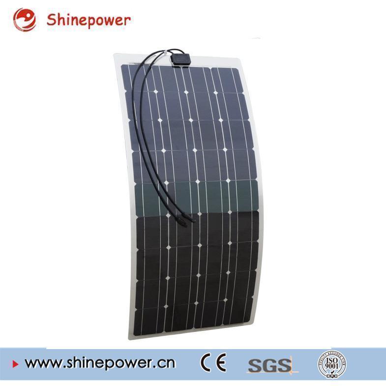 100W Semi-Flexible Monocrystalline Solar Panel/Solar Module Camper RV Yacht Home
