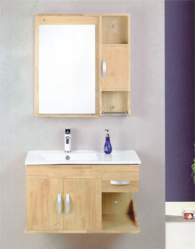 China oak bathroom wash basin cabinet omq 8025 china for Bathroom washbasin cabinet