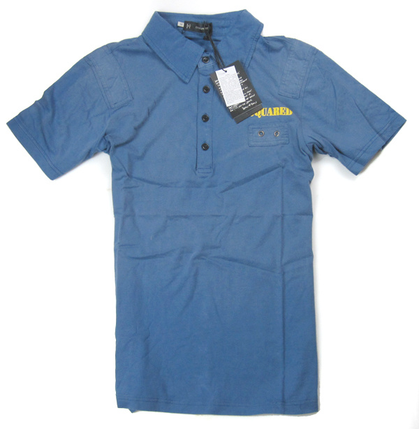 Brand polo t shirt blue brand d2 cotton squared china for Branded polo t shirts