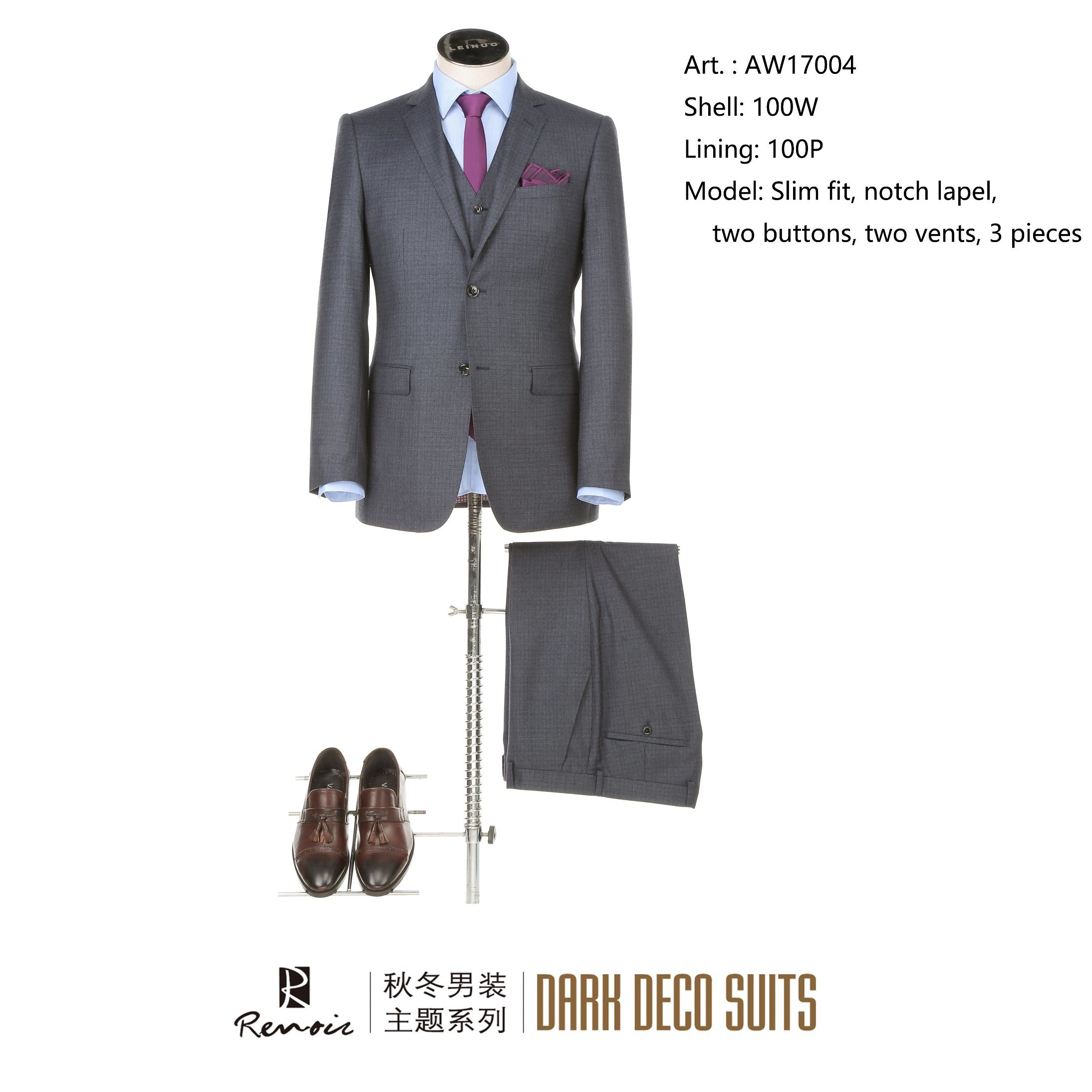 OEM 3 Pieces Slim Fit Men′s Business Suit