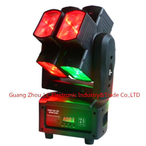 Newest Dual Axis 8PCS 10W RGBW 4in1 LED Hot Wheel Moving Head Light