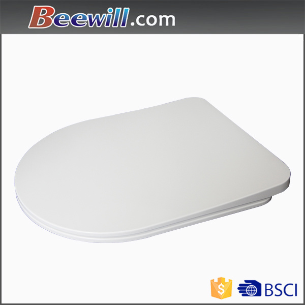 D Shape Elongated Custom The Slim Slow Urea Toilet Seat
