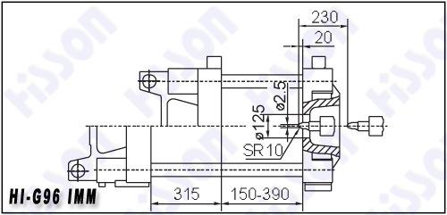 96t Plastic Injection Moulding Machine Hi-G96