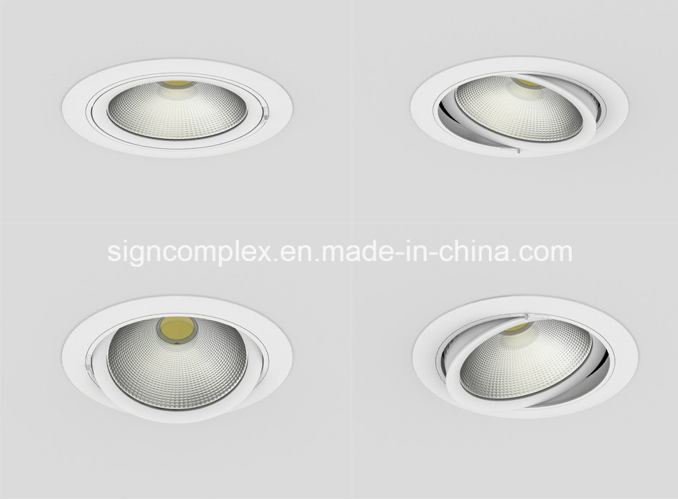 "Signcomplex Rotatable Hot Sale 25W 6"" COB LED Downlight with Ce RoHS"