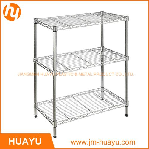 500*300*700 mm 3-Tier Adjustable Wire Shelving Metal Display Stand Storage Rack