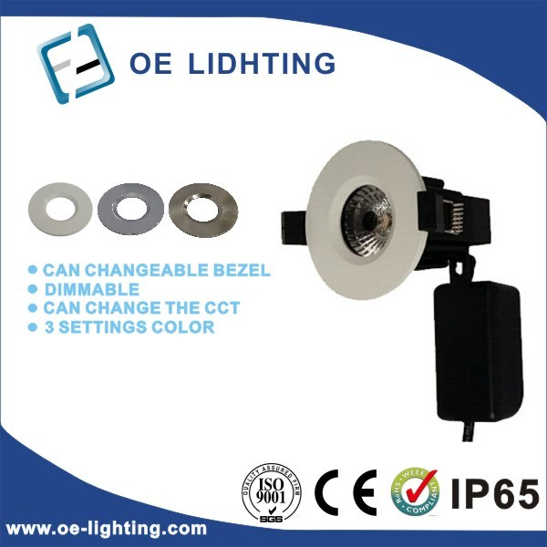 New Fire Rated 3 Color Settings COB LED Downlight